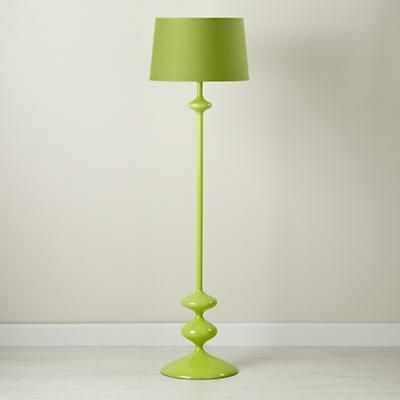 Great Kidsu0027 Floor Lamps: Green Floor Lamp Base With Fabric Shade In All Lighting