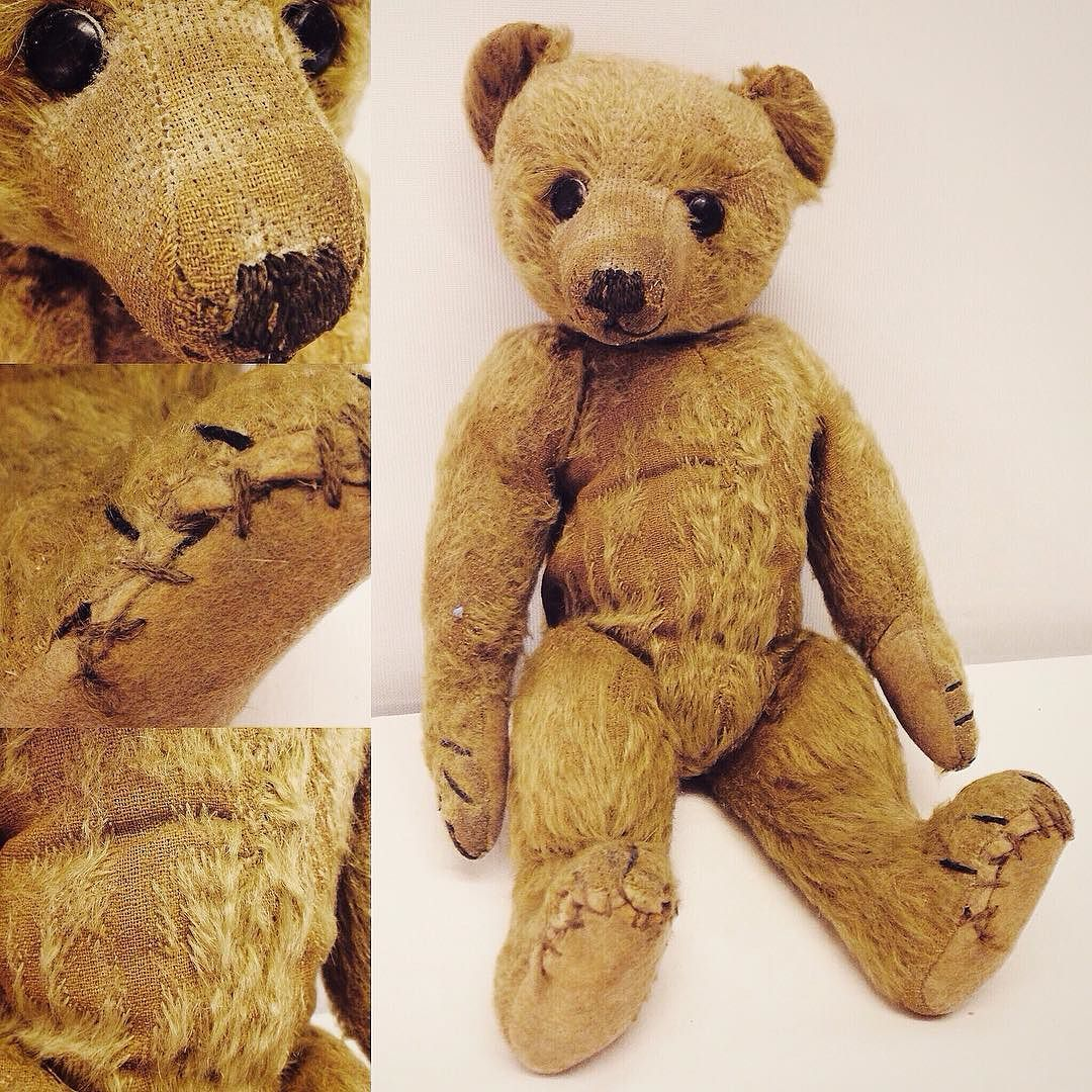 c1900s German #teddybear with hump boot button eyes and long snout in for our #VintageToys #Antiques & #Collectables #auction next Weds. Catalogue online at townsend-auctions.co.uk this Sat.  #teddies #toys #antiqueteddy #antiqueteddybear #vintageteddy