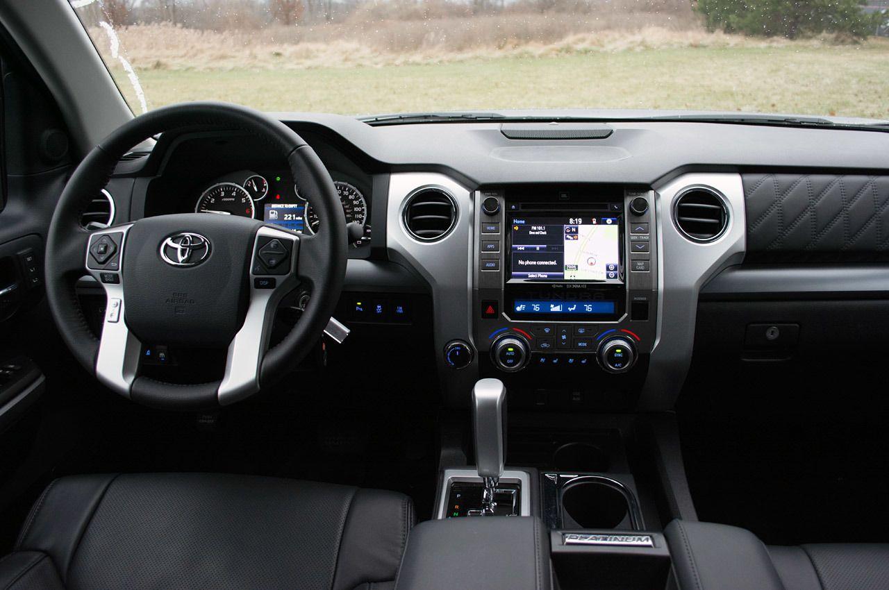 2014 Toyota Tundra Platinum 4x4   Interior Front