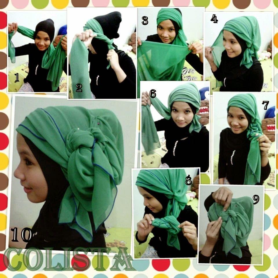 Tutorial Hijab Segi Empat Untuk Kebaya Cara Memakai Jilbab Segi