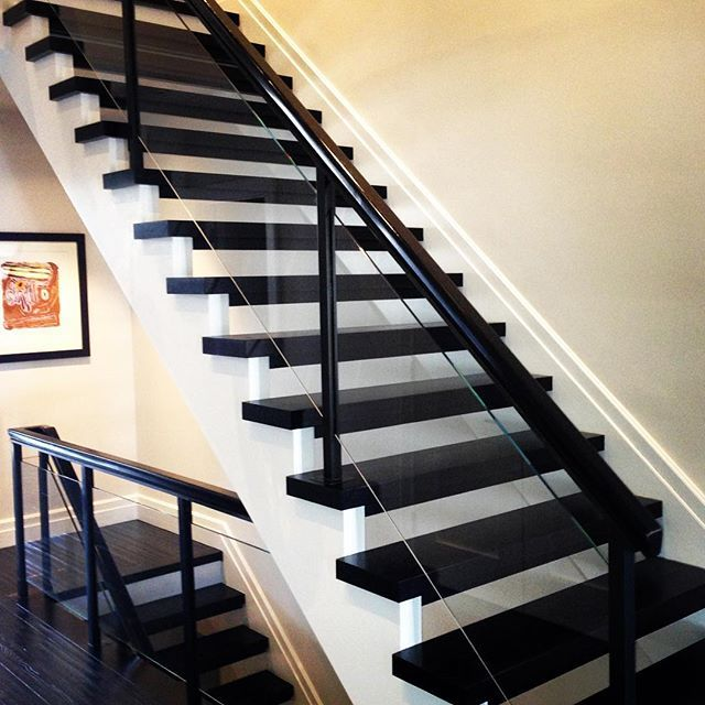 Best Floating Stair Installation With Metal And Glass Railing 400 x 300