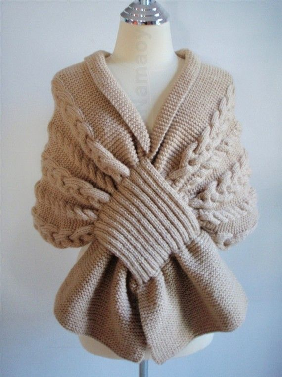 Oooh, I can so see this working in a much smaller scale, like a little scarf my grandmother used to make. Love.