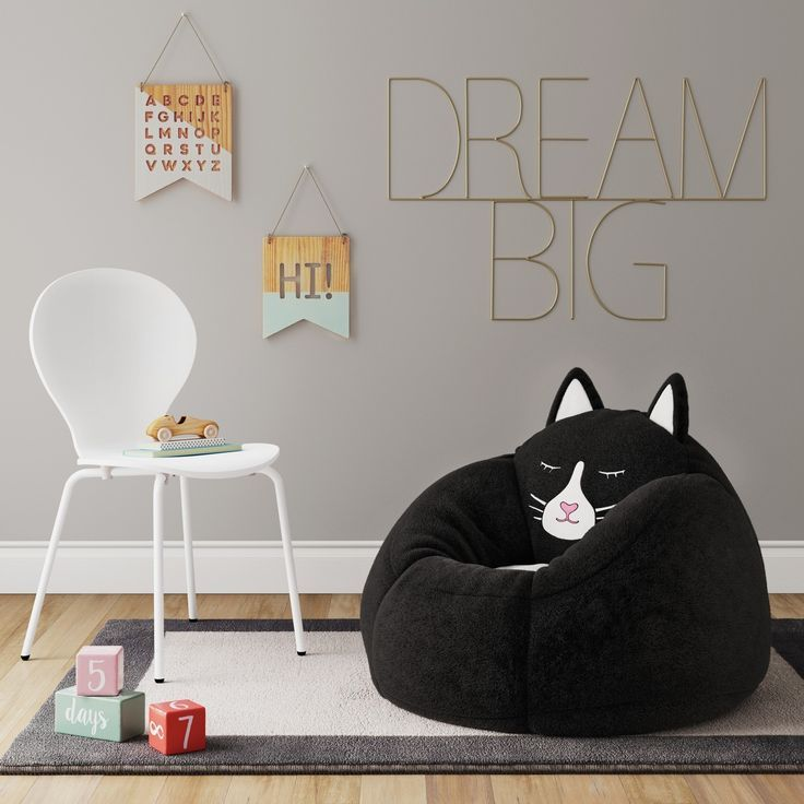 Enliven your kids\u0027 room with the Character Bean Bag Chair from