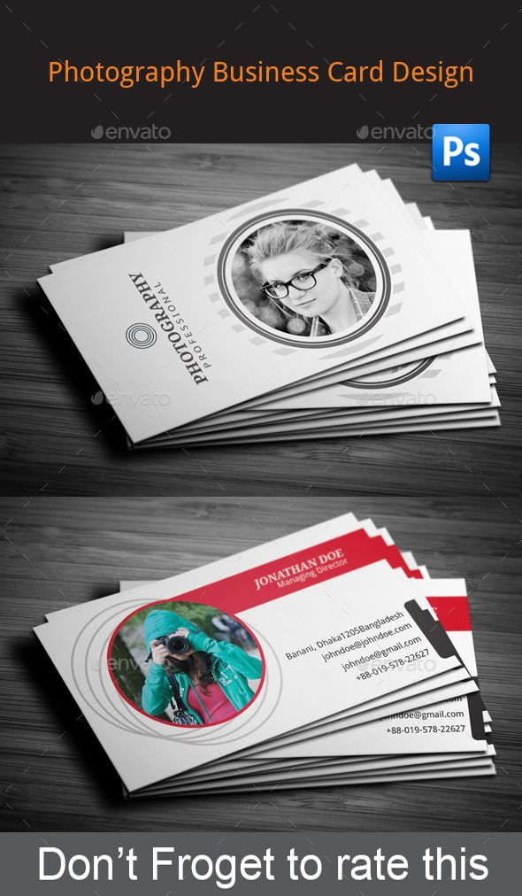 Photography business card design 2 sided business card 2 horizontal layout 3 adobe photoshop cs5 3 reheart Gallery
