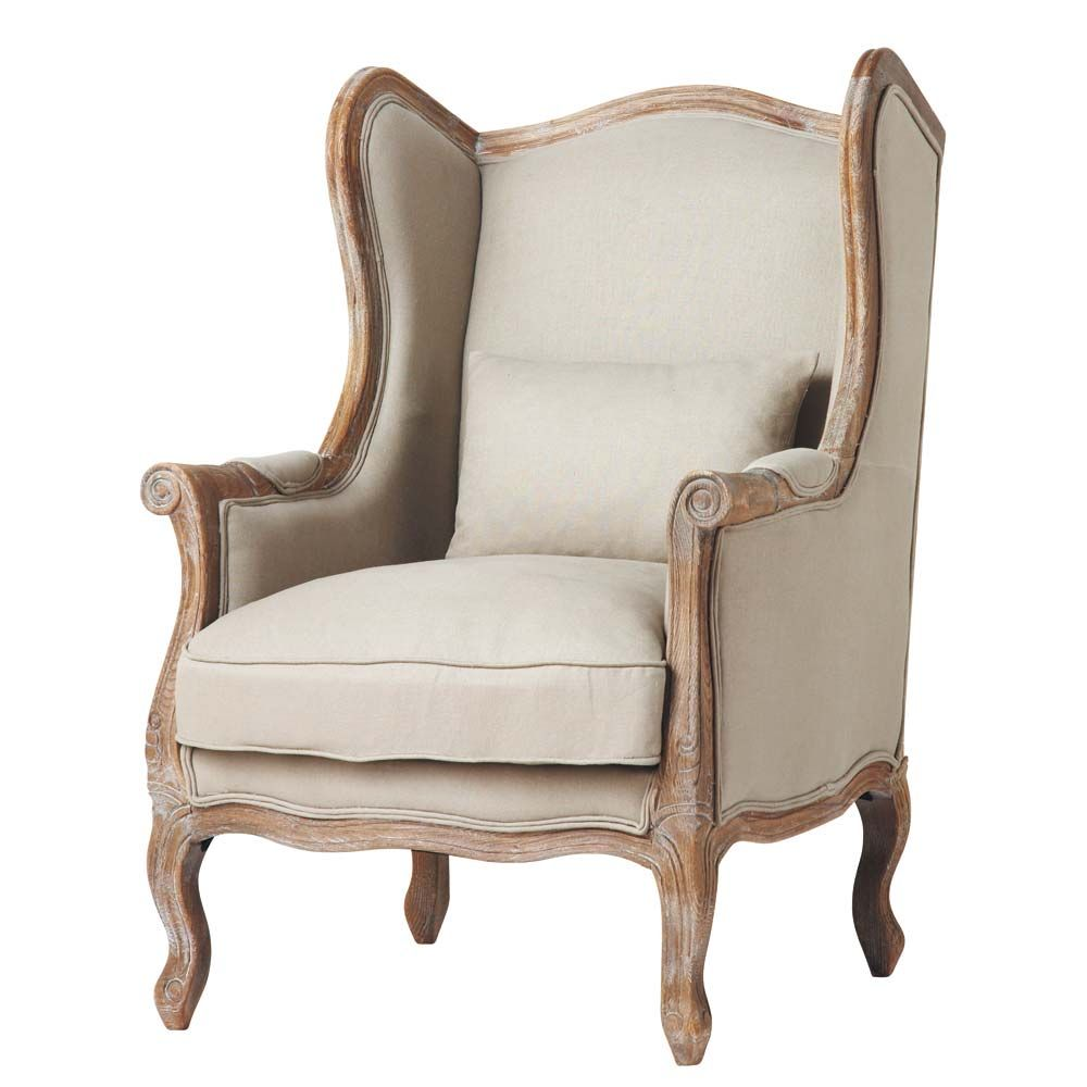 Lehnsessel Aus Leinen Stuff To Buy Winged Armchair