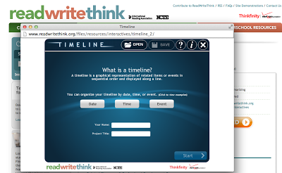 use of the online timeline tool read write think social studies
