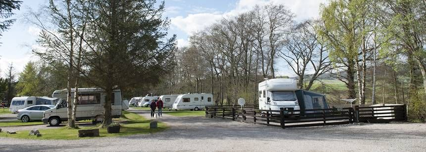 Tarland Camping and Caravanning Club Site, Tarland by Aboyne, Aberdeenshire