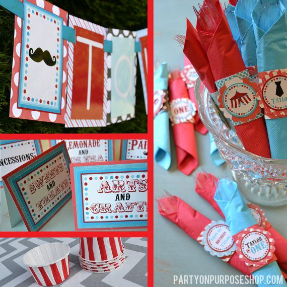 Carnival Birthday Party Decorations Package by PartyOnPurposeShop, $237.50