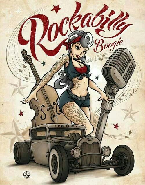 pin up rockabilly dessin