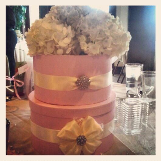 Decorating Hat Boxes Mesmerizing Hat Box Centerpiece  Bridal Shower Decor  Pinterest  Hat Boxes Design Ideas