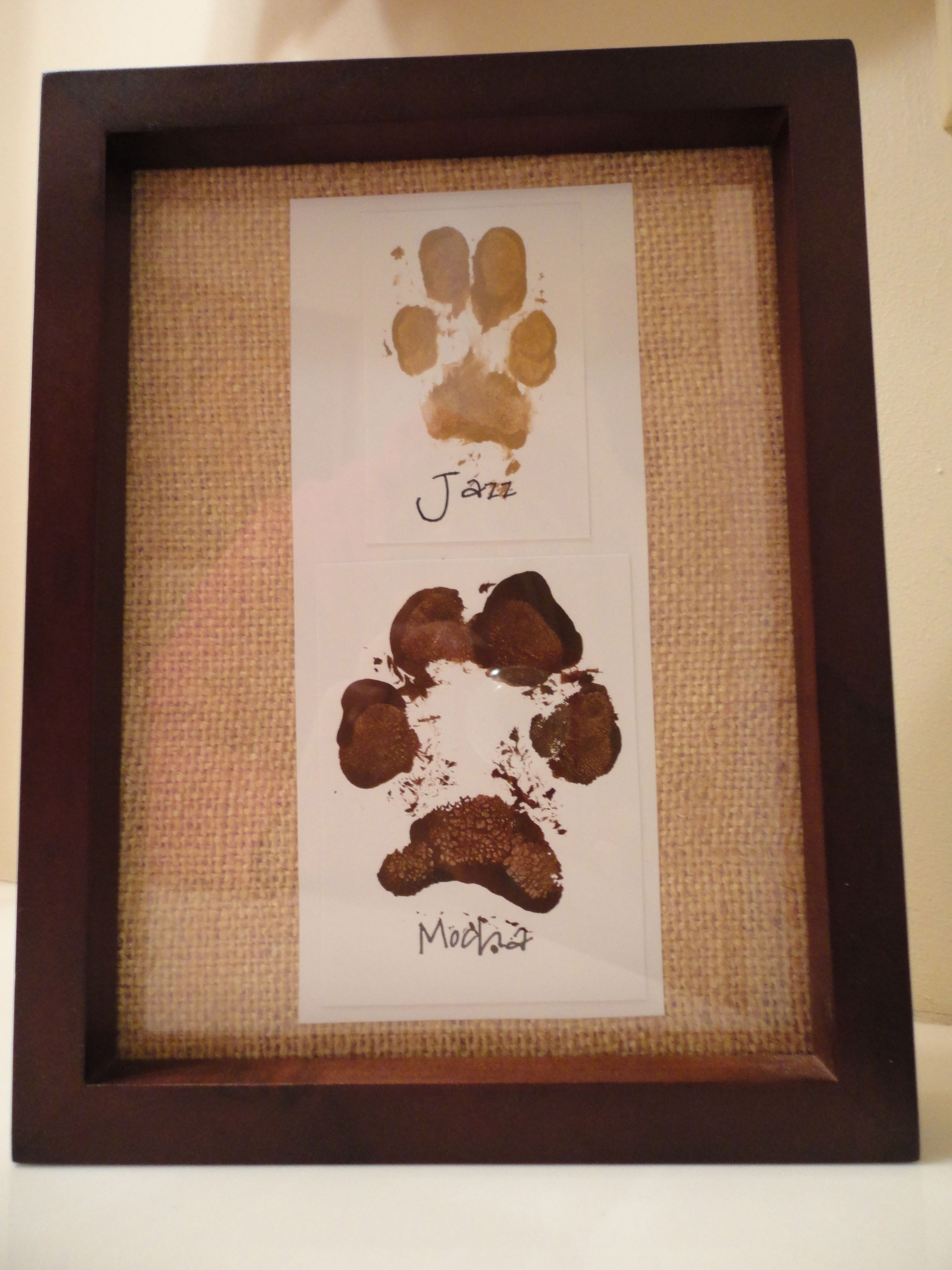 Gifts From The Dog Part - 24: Made My Dogs Paw Prints :)
