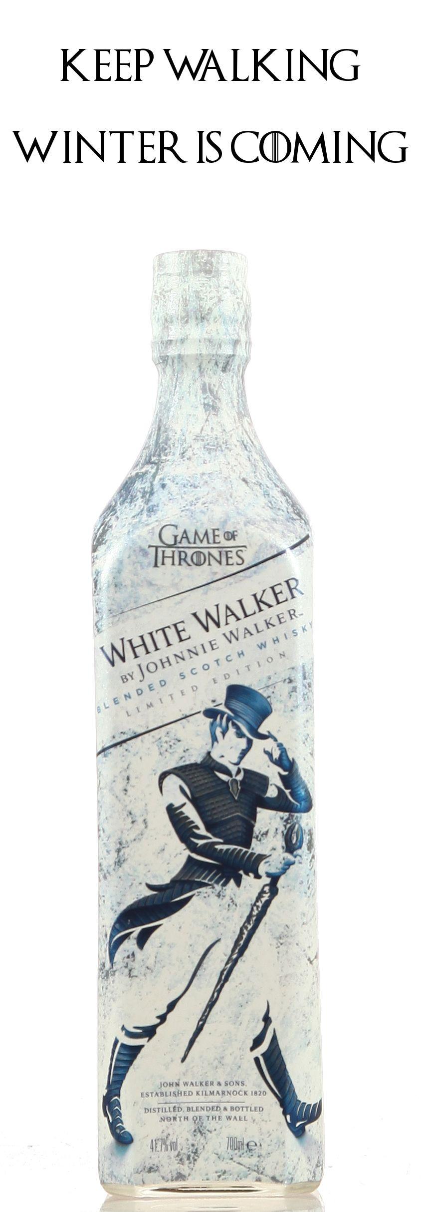 Winter is coming! Wärmt euch am White Walker Johnnie Walker, denn der Winter kommt bald. Ein Muss für jeden echten Game of Thrones Fan. #got #johnniewalker #whisky #whiskey #scotch