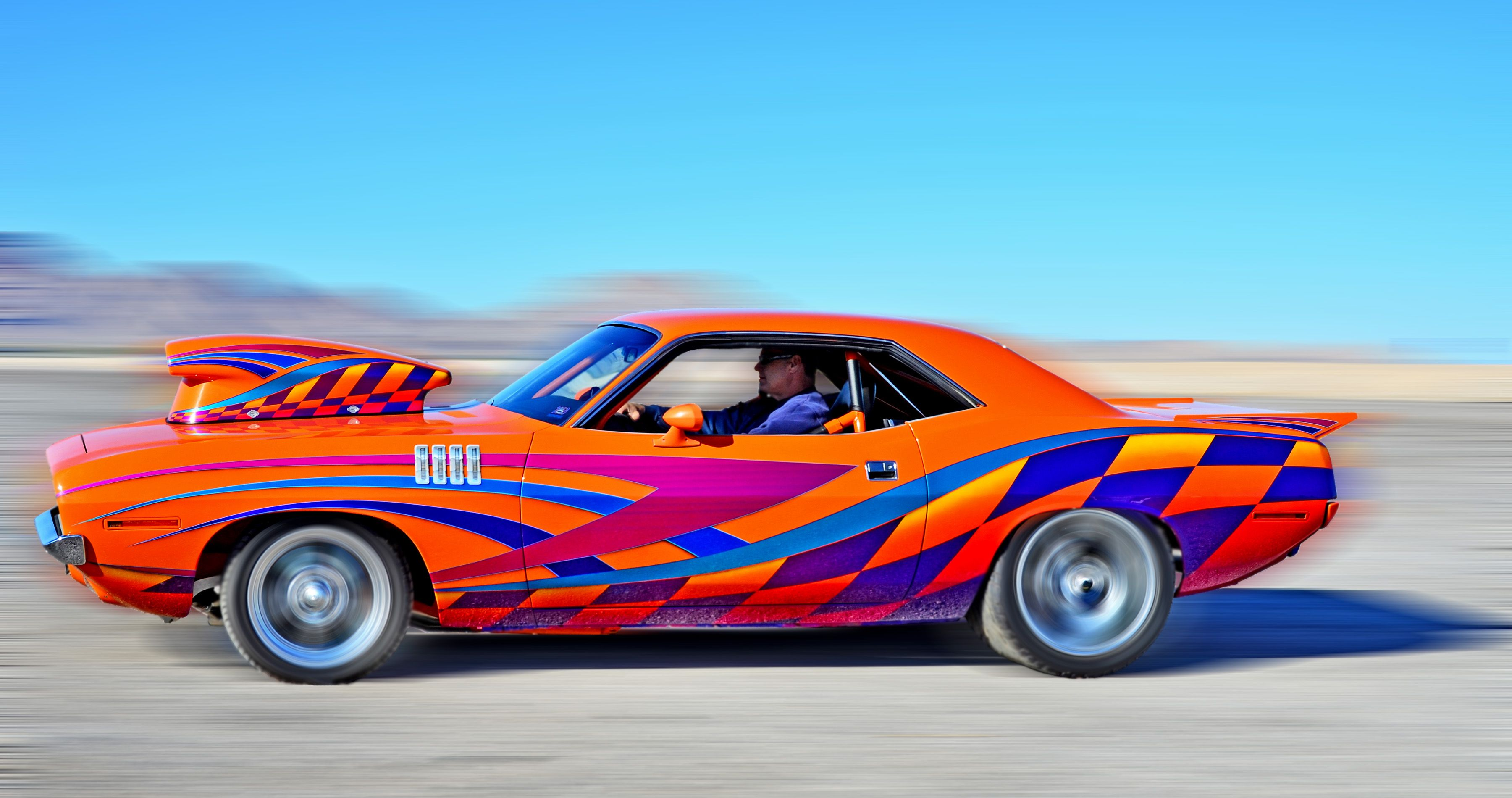 1971 Plymouth Barracuda won first place in the \