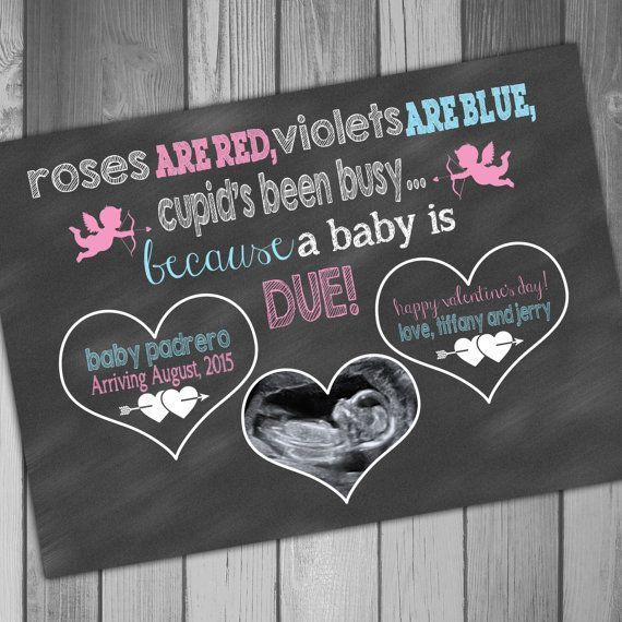 Pregnancy Announcement Card Valentines Day Photo by CLaceyDesign #Valentinstag S… – category