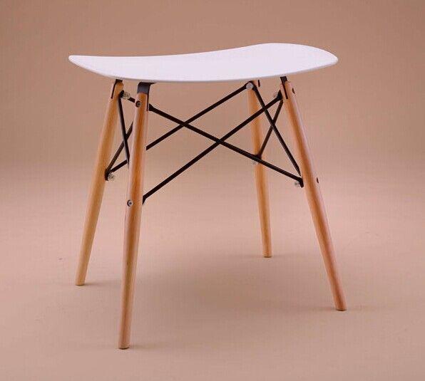 100% barra de madera taburete, madera y plástico silla, rojo blanco ...