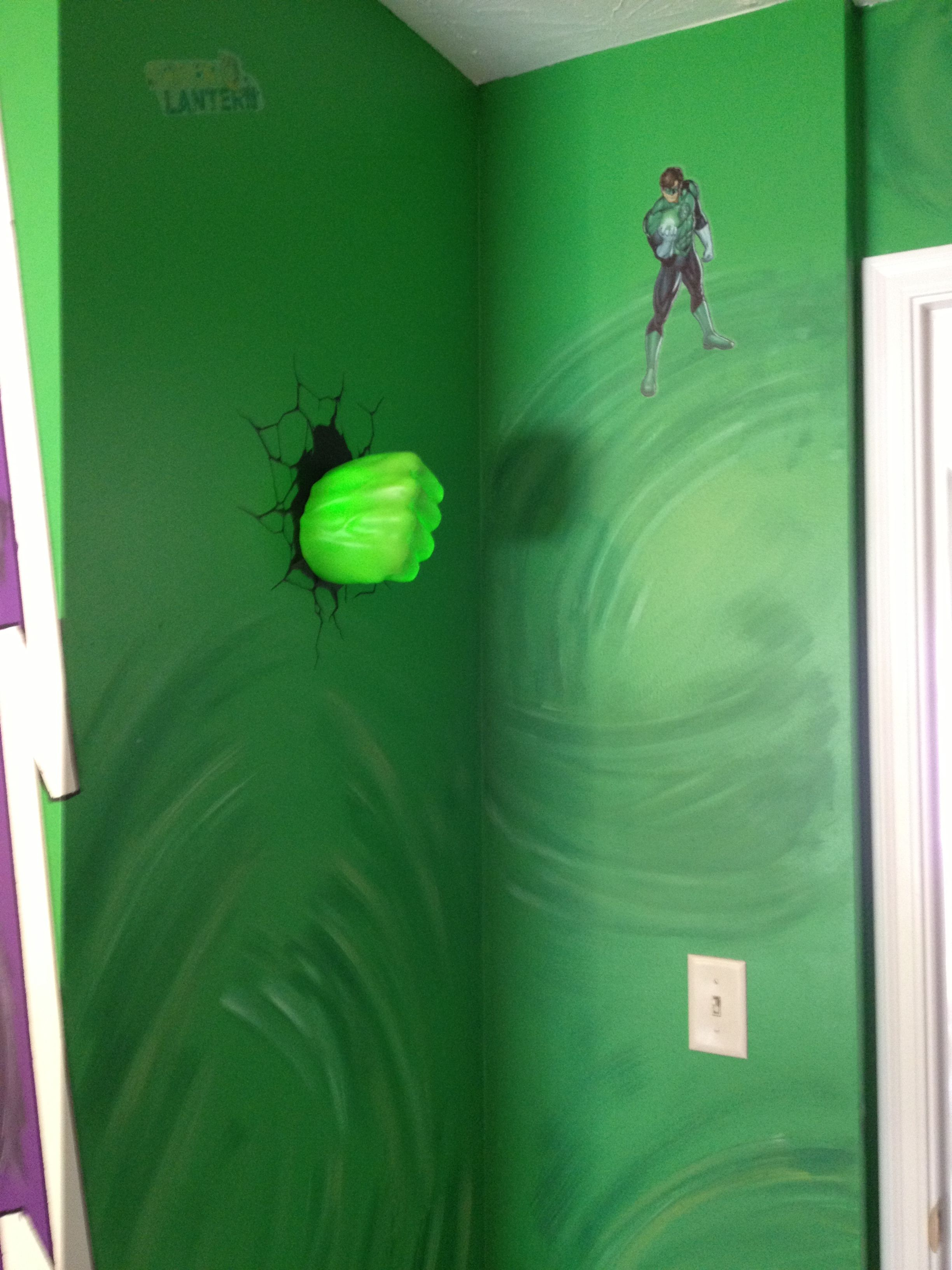 Hulk Hand Smashing Through Wall Just Inside Door It