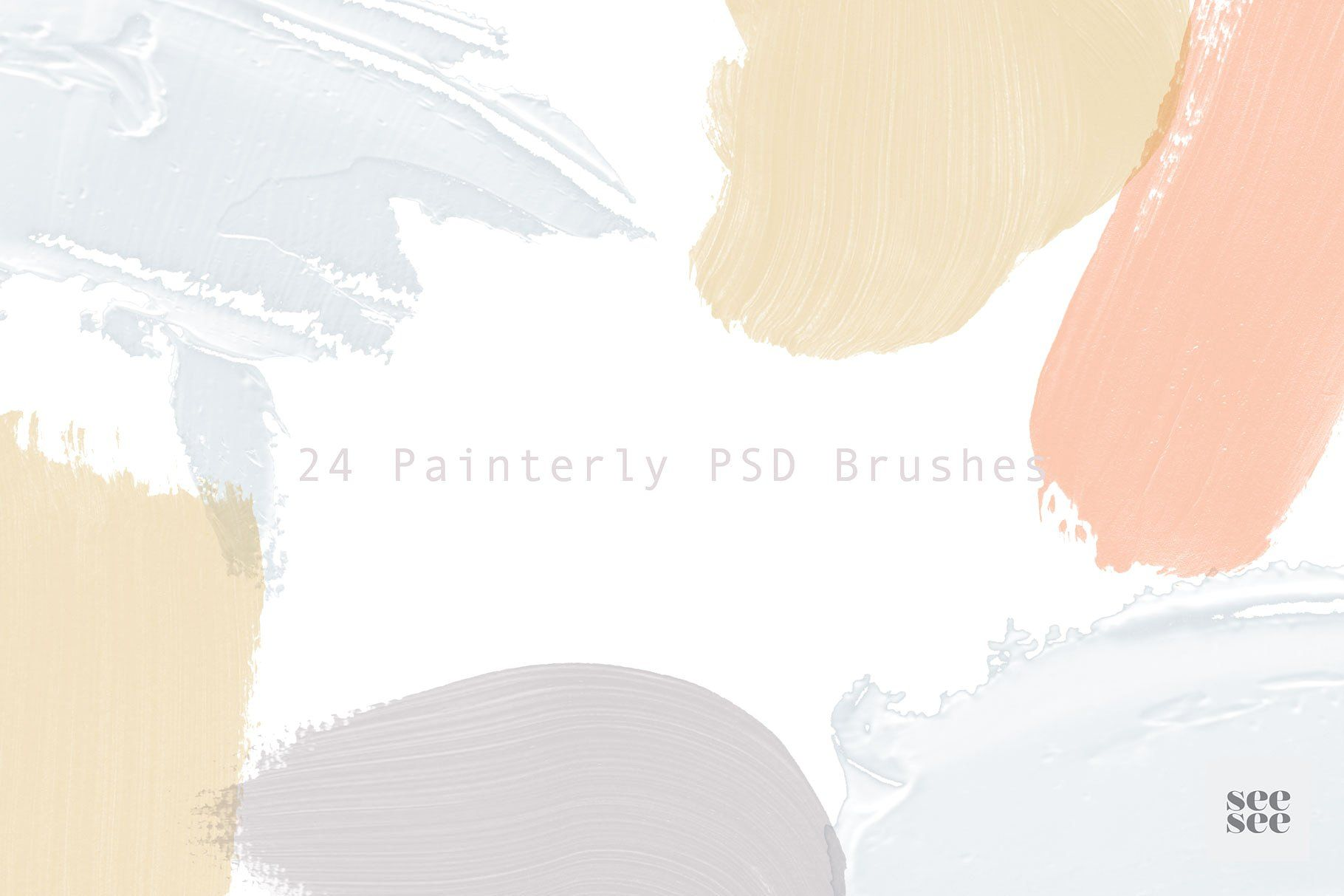 24 Painterly Psd Brushes Psd Brushes Photoshop Resources Psd