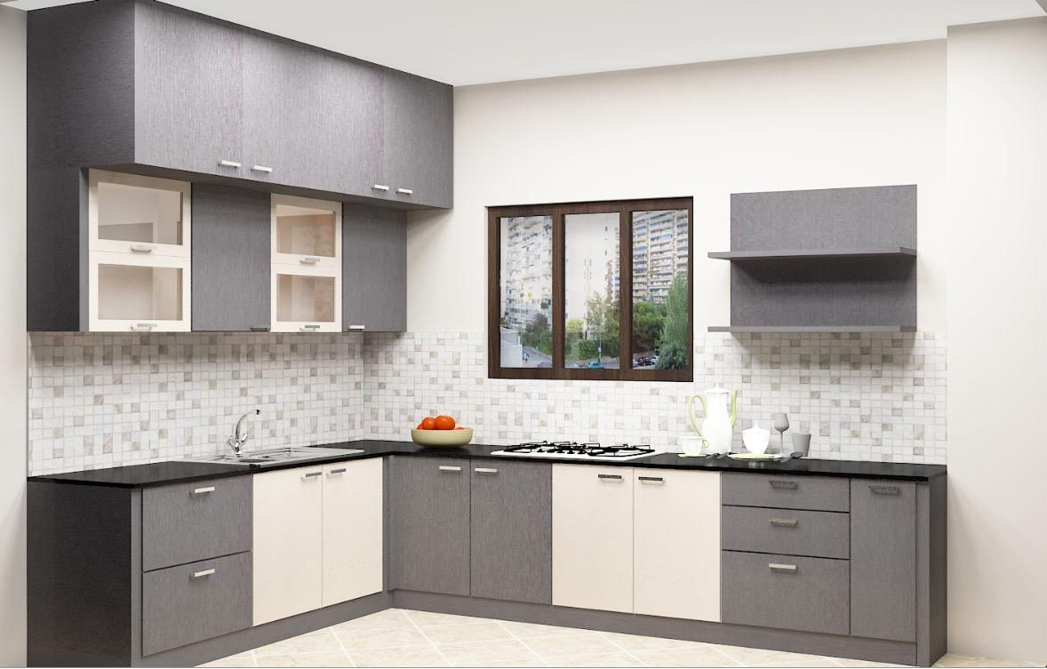 Modular L-Shaped Kitchen Designs Online In Bangalore | Cocinas