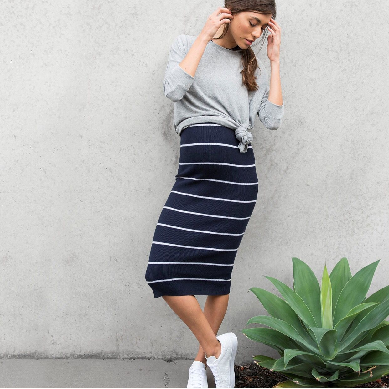 Effortlessly cool maternity layers
