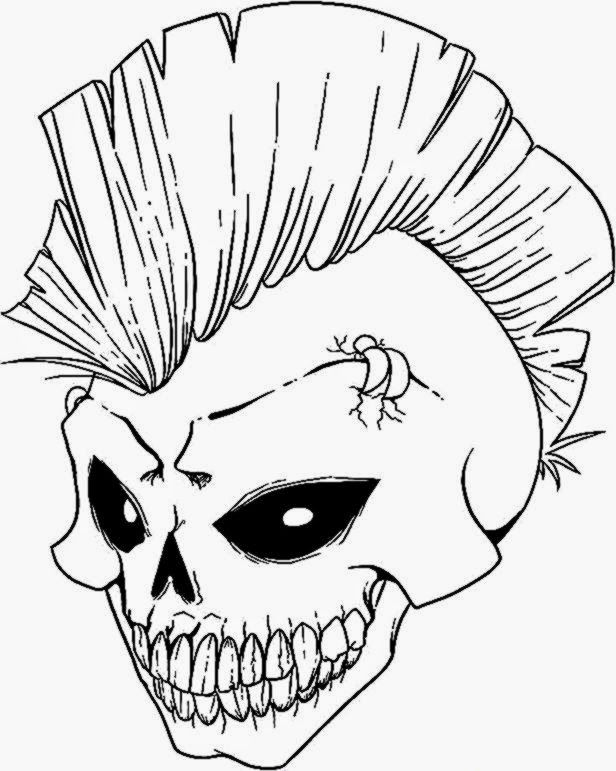 Coloring Pictures Of Skulls Skull Coloring Pages Skulls Drawing Scary Drawings