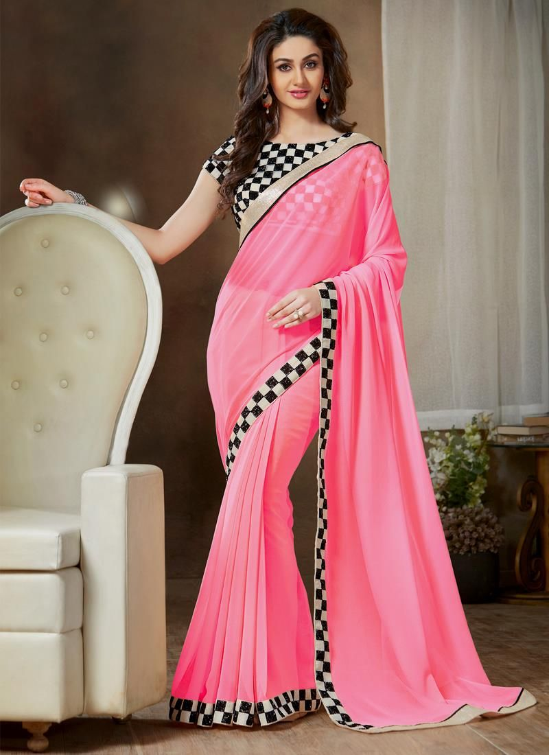 Classy Georgette Casual Saree | Casual Style Sarees | Pinterest