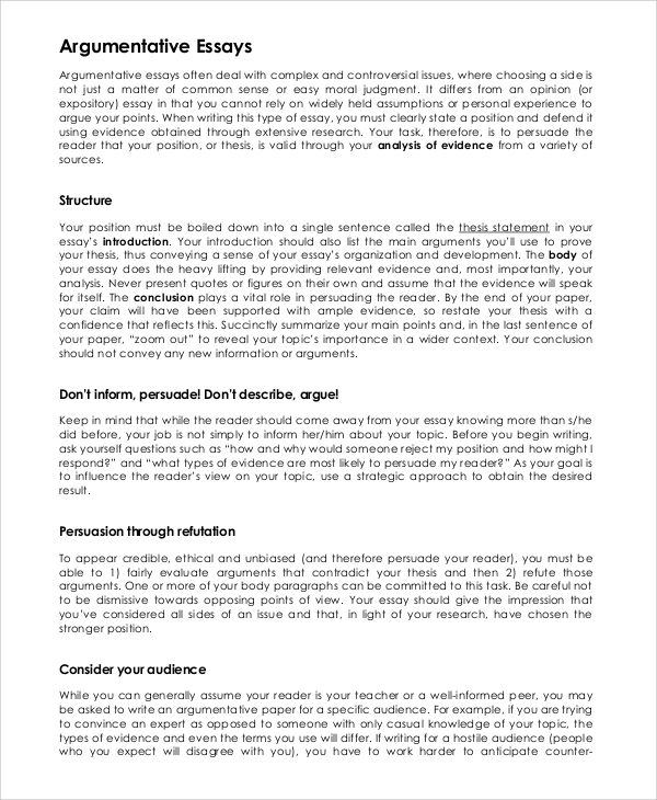 argumentative essay example samples pdf word research paper free - argumentative essay