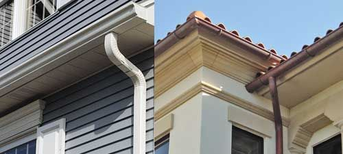 Aluminum Gutters Installed In K Style Profile And Half