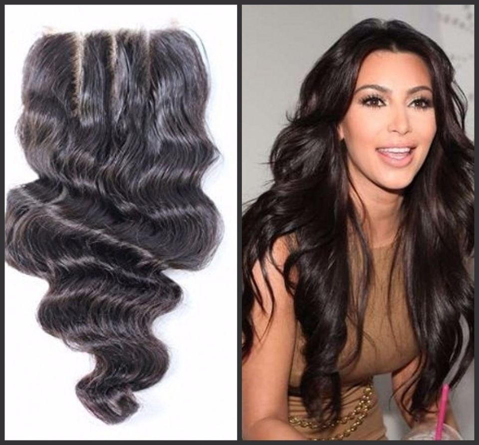 Pretty Hair Extension Weave Top Lace Closure Indian Virgin Hair