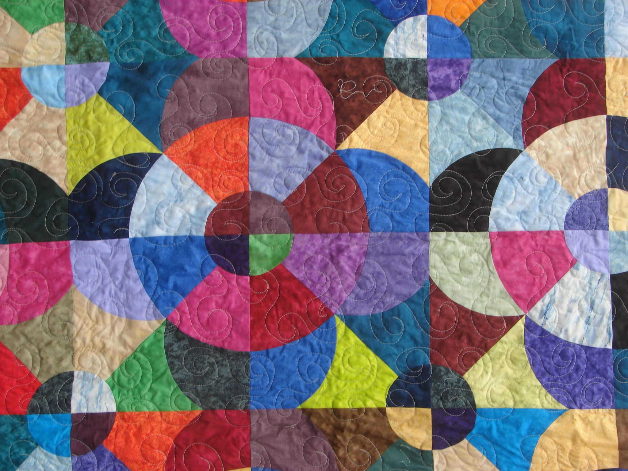With Help From Paula And A John Flynn Template Ps I Did Not Quilt