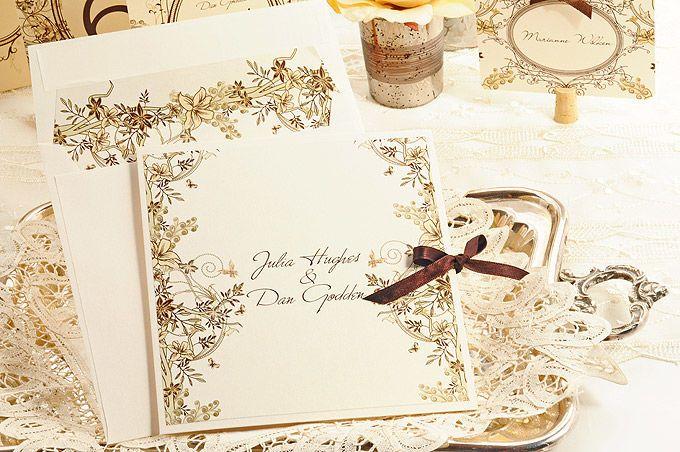 Invitaciones Vintage Tarjetas De Matrimonio Invitaciones