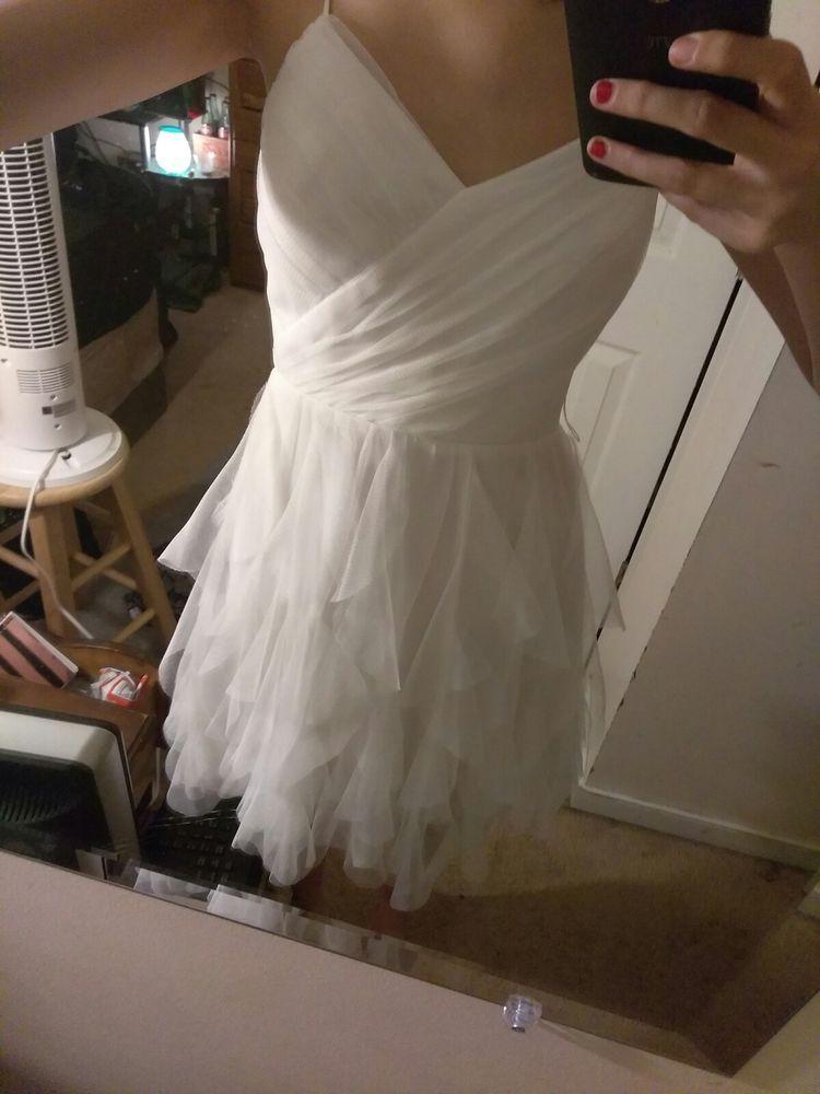 Gorgeous Semi Formal Formal White Dress Teaze Me Size1 Ebay