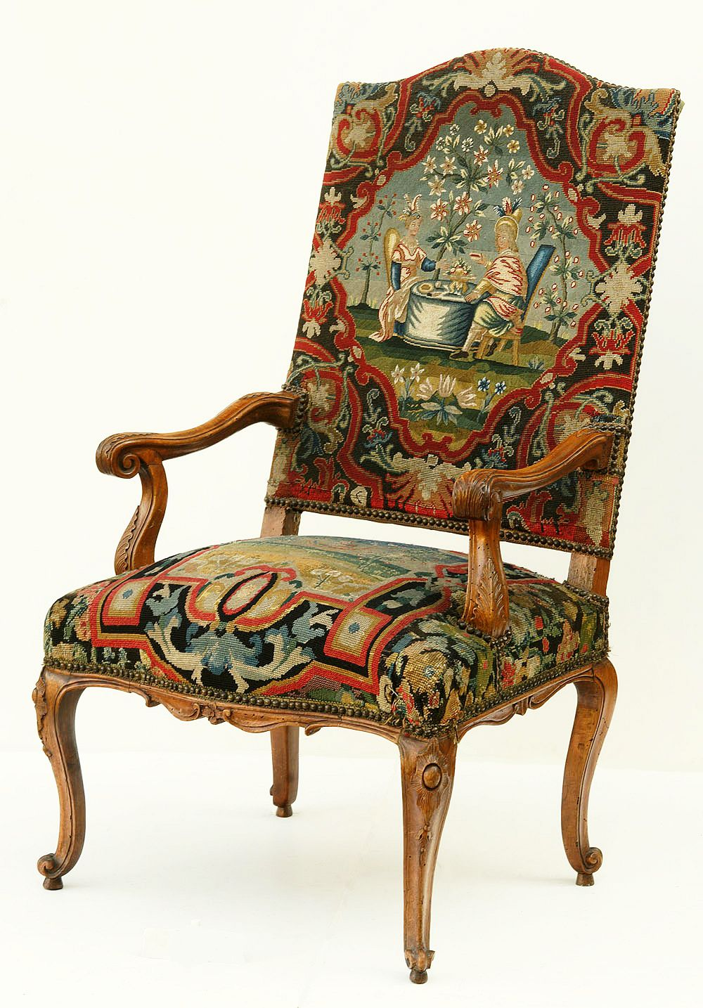 Tapestry Covered Chair By Anonymous, First Half Of The 18th Century, Muzeum  Narodowe W Warszawie (MNW)