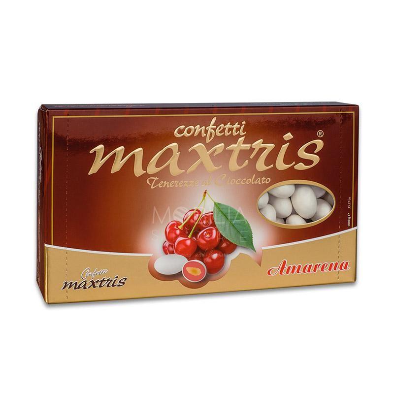 Confetti farciti Maxtris mandorla e cioccolato gusto Amarena.