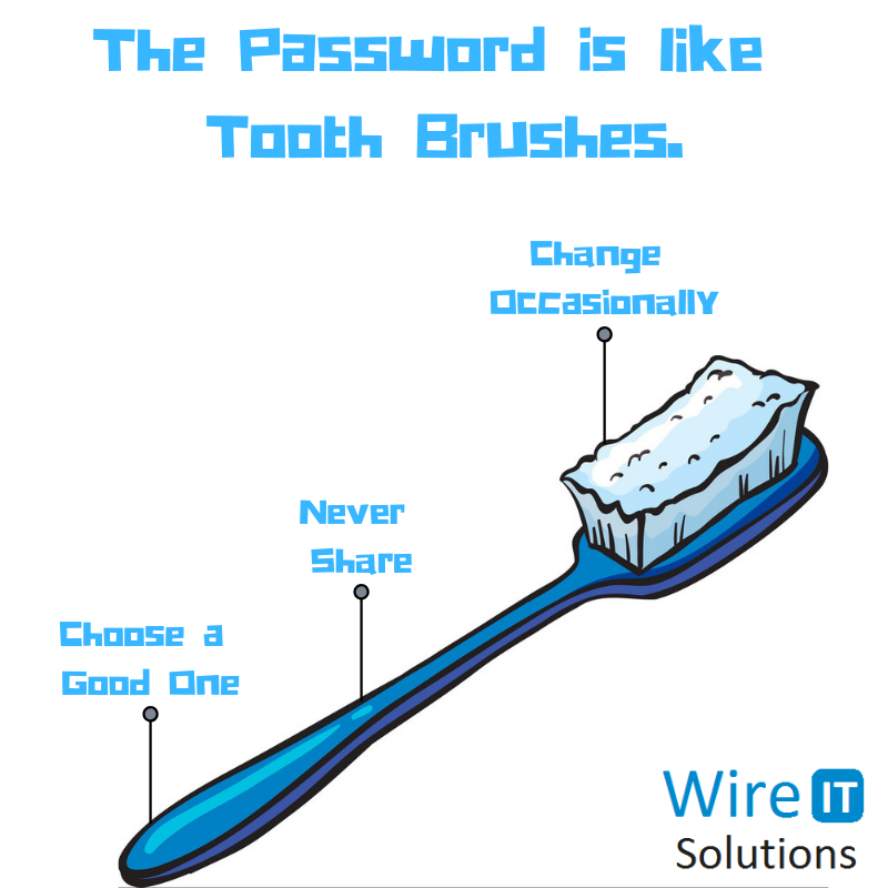 The Password is like Tooth Brushes. cybersecurity