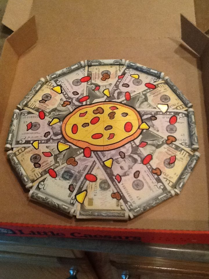 Creative Money Pizza Learn How To Make The Fastest Extra