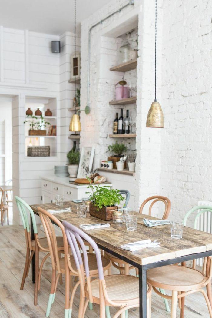 1001 ideas de decoraci n en colores pastel para tu casa - Estanterias comedor ...