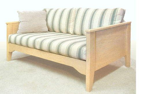 Wooden Arm Sofa With Cushions Favorite Place