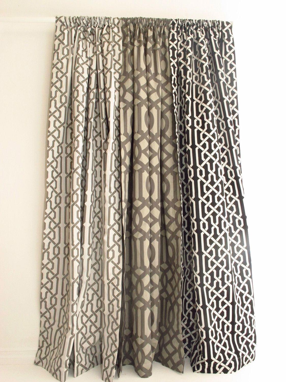 Gray Overlapping White Trellis Panel Pair Of Decorative