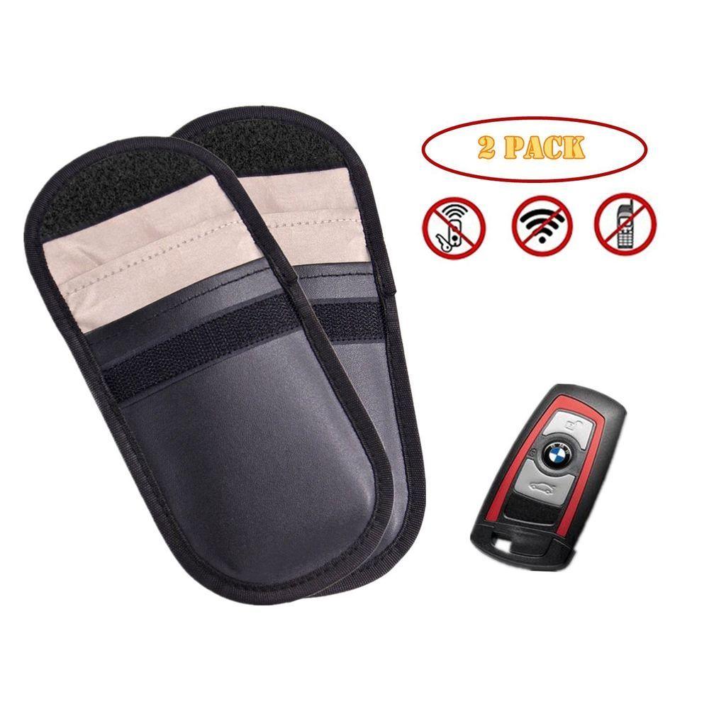 2 car key rfid signal bloking case singal blocker pouch