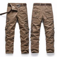 0514f2f979a3a ChArmkpR Men s Military Outdoor Loose Large Size Cotton Multi-pockets  Casual Cargo Pants Online-NewChic Mobile