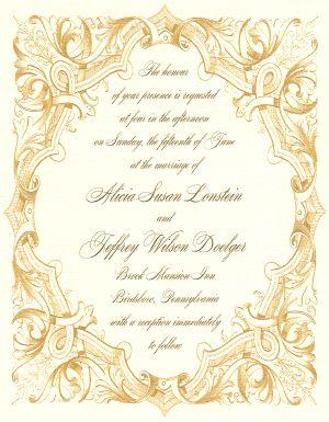 Edwardian wedding invitation or Downton Abbey wedding invitation