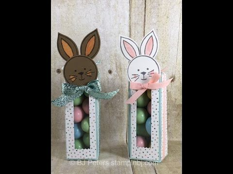 Bunny treat boxes sure to delight bjs stampin spot these bunny treat boxes are super duper cute and best of all they are super easy to make i cant wait to make a few more of these to have on my easter negle Image collections