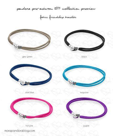 Pandora Pre Autumn 2017 Fabric Bracelets