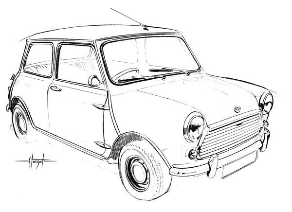 mini cooper on behance