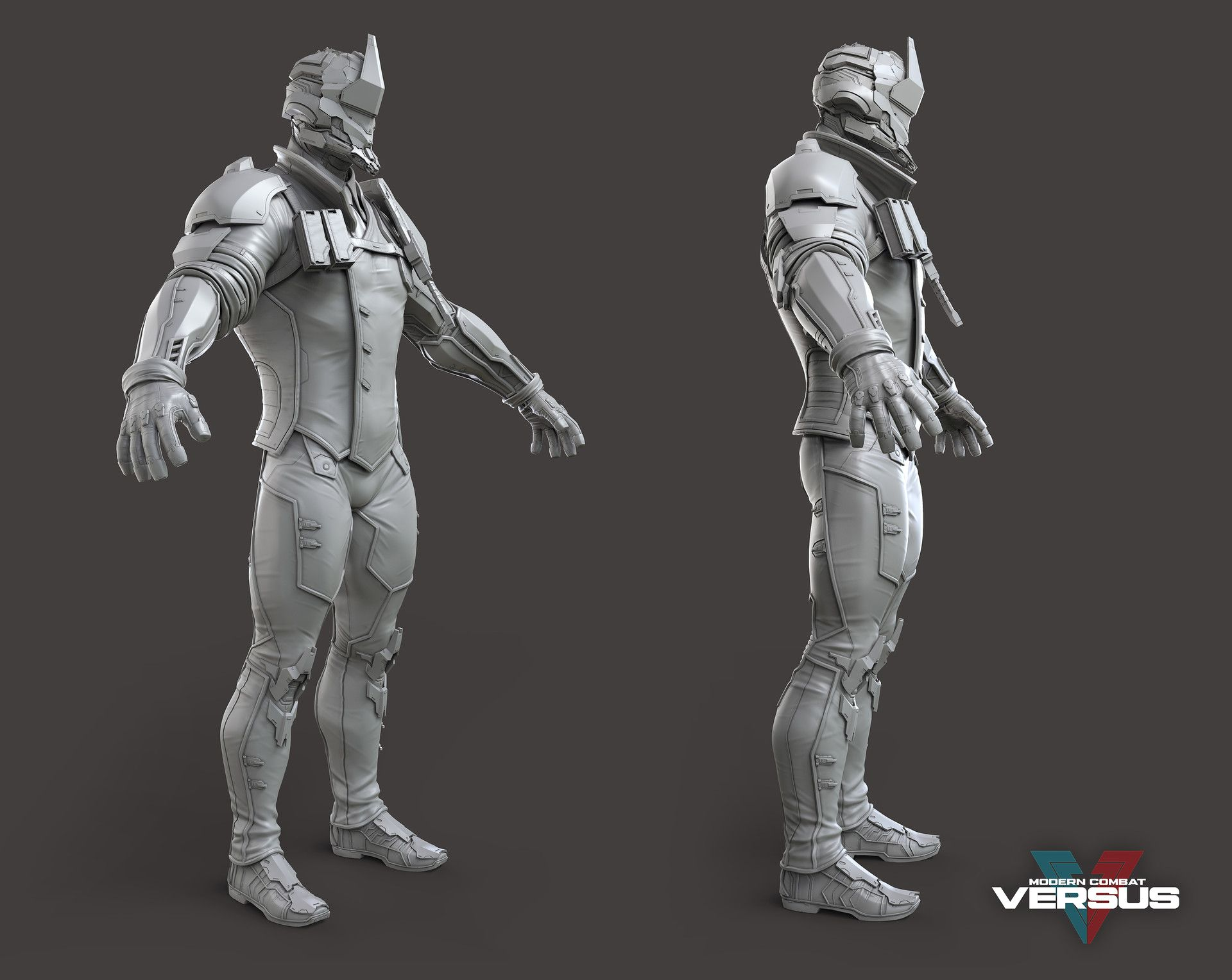 Images Of The High Res Scuplt I Made For Monark One Of The Characters I Made Modern Combat Versus Concept By Fred Rambaud
