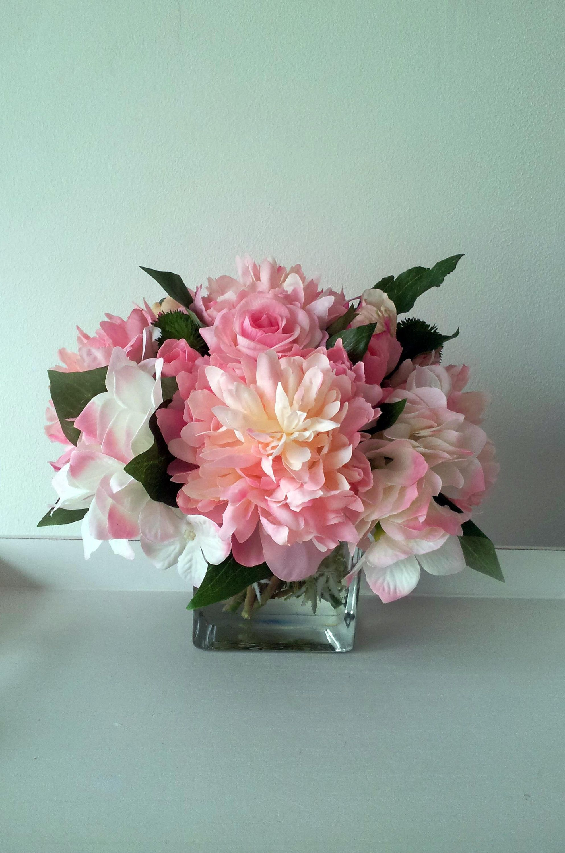 Home decor artificial flowers  Artificial Flowers CentrepieceFaux Silk Flowers ArrangementFaux