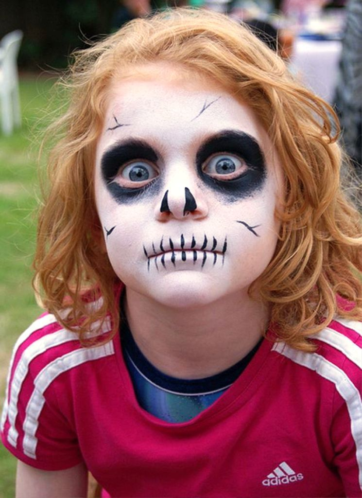 20 Scary Halloween Makeup Ideas For Kids To Try Out Scary - halloween face paint ideas scary
