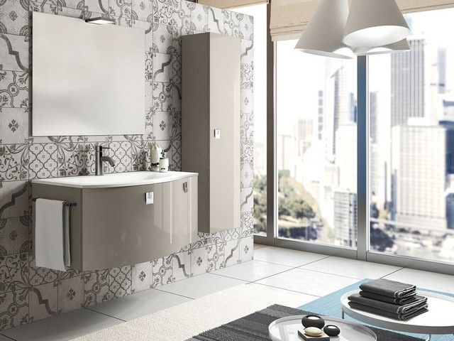 Mobile bagno wave 100 color iperceramica mobili bagno pinterest - Iperceramica bagno ...