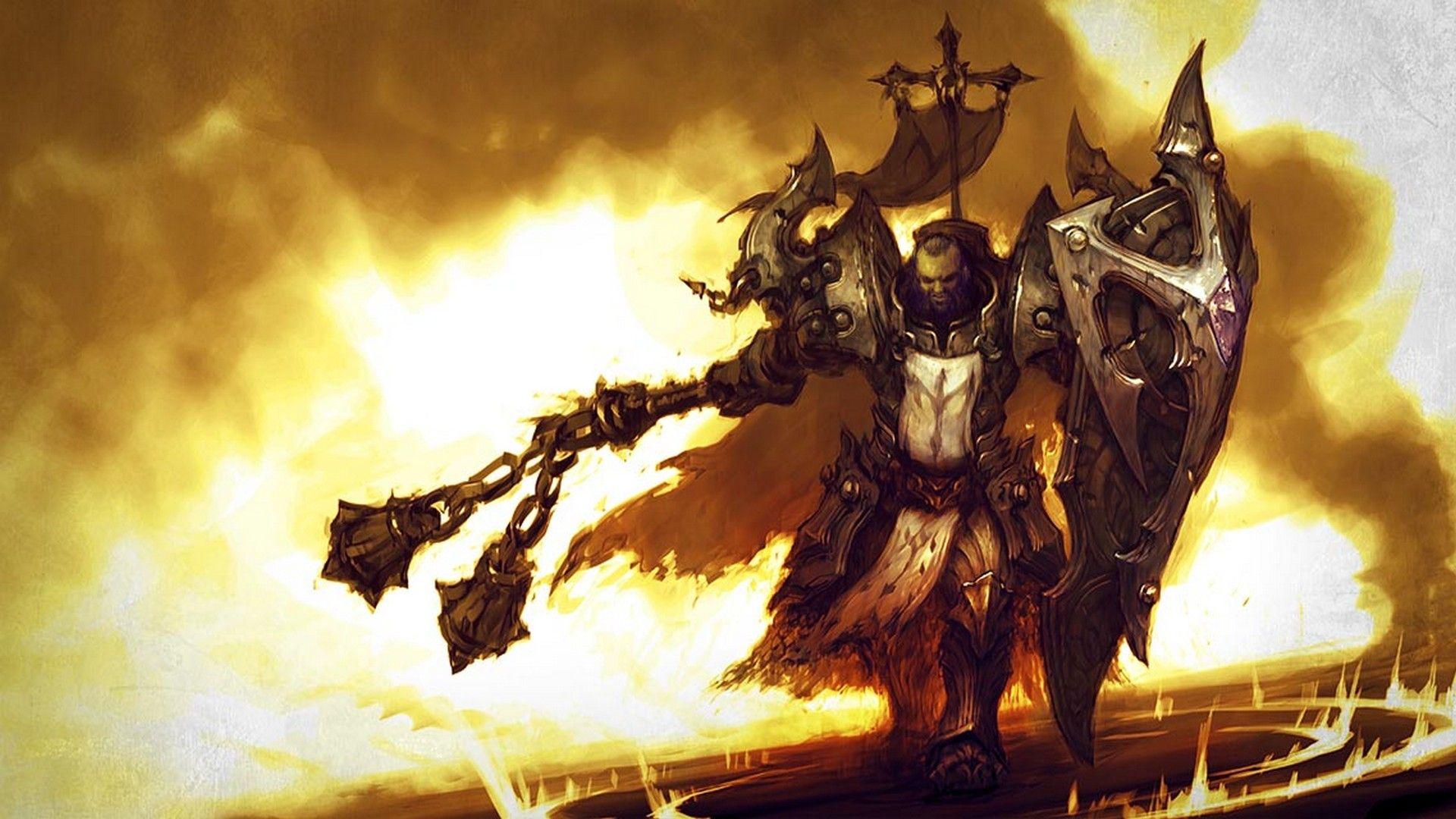 Diablo 3 Reaper Of Souls Crusader Hd Wallpaper Diablo Cavaleiros Medievais Medieval Rpg