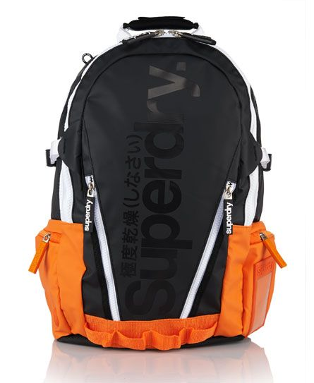 Shop Superdry Mens Pop Tarp Backpack in Black/orange. Buy now with free  delivery from the Official Superdry Store.